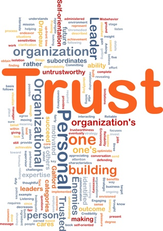 organizational: Background concept illustration of building personal trust