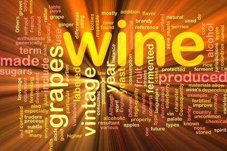 enzymes: Background concept illustration of grape wine vintage glowing light