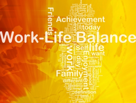 Background concept wordcloud illustration of work-life balance international Stock Illustration - 10012022