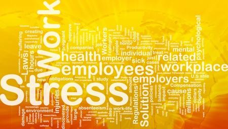 Achtergrond concept wordcloud illustratie van werkstress internationale