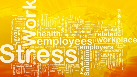 Background concept wordcloud illustration of work stress international Stock Illustration - 10012145