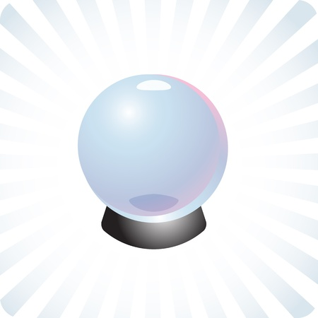 Fortune telling crystal glass ball future forecasting prediction illustration