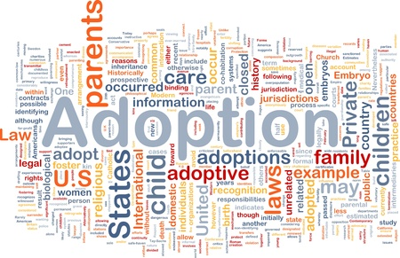 Background concept wordcloud illustration of adoption