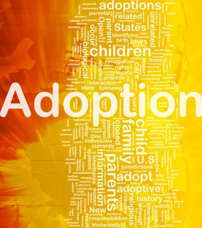 Achtergrond concept wordcloud illustratie van adoptie internationale