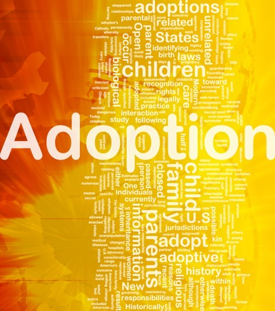Background concept wordcloud illustration of adoption international