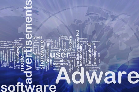 adware: Background concept wordcloud illustration of adware international