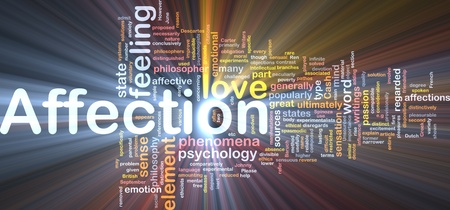sexual pleasure: Background concept wordcloud illustration of affection glowing light