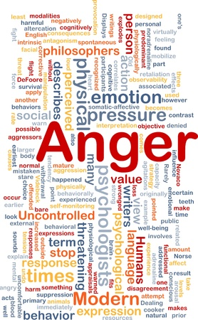 Background concept wordcloud illustration of anger Stock Illustration - 10287805
