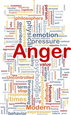 Background concept wordcloud illustration of anger Stock Illustration - 10287805