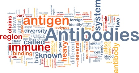 immune cells: Background concept wordcloud illustration of medicine antibodies immunity