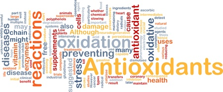 chain reaction: Background concept wordcloud illustration of antioxidants health nutrition Stock Photo