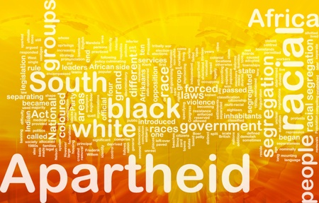 apartheid in south africa: Background concept wordcloud illustration of apartheid international