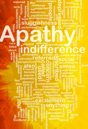 Background concept wordcloud illustration of apathy  international Stock Illustration - 10287858