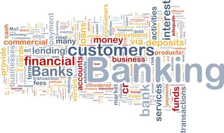 Achtergrond concept wordcloud illustratie van bank-