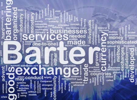 practiced: Background concept wordcloud illustration of barter international