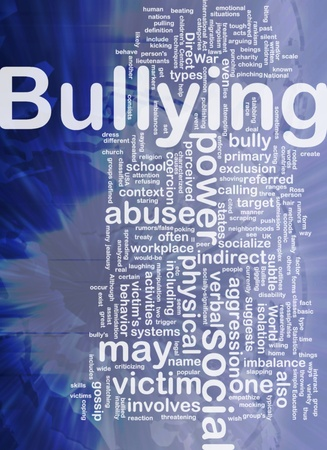 Background concept wordcloud illustration of bullying international 스톡 콘텐츠
