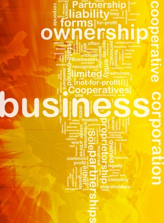 entity: Background concept wordcloud illustration of business corporation ownership international
