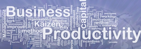 productive: Background concept wordcloud illustration of business productivity international