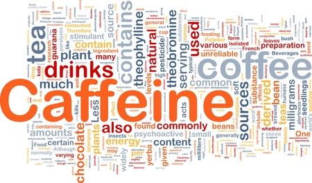 caffeine: Background concept wordcloud illustration of caffeine Stock Photo