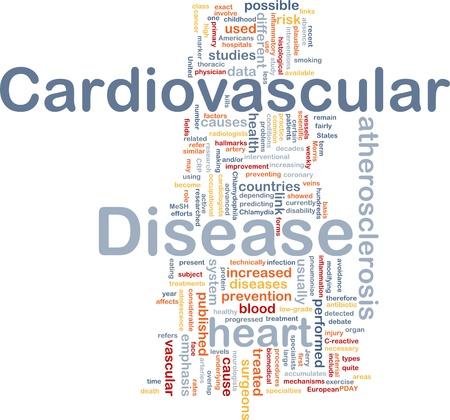 Achtergrond concept wordcloud illustratie van hart-en vaatziekten