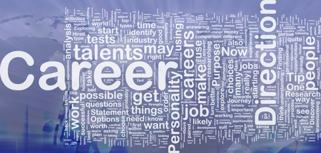 pursue: Background concept wordcloud illustration of career international