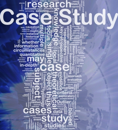 Background concept wordcloud illustration of case study international