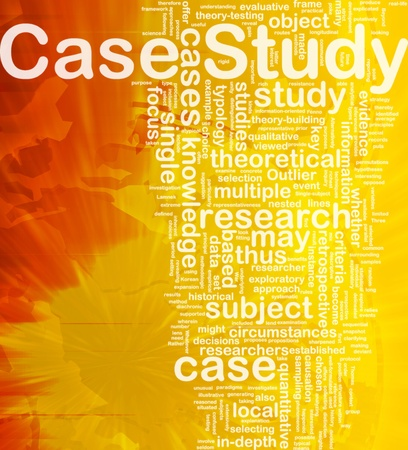 case study: Background concept wordcloud illustration of case study international