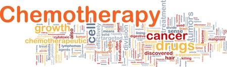 Achtergrond concept wordcloud illustratie van medische behandeling met chemotherapie