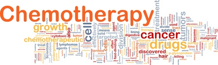 tumors: Background concept wordcloud illustration of medical chemotherapy treatment