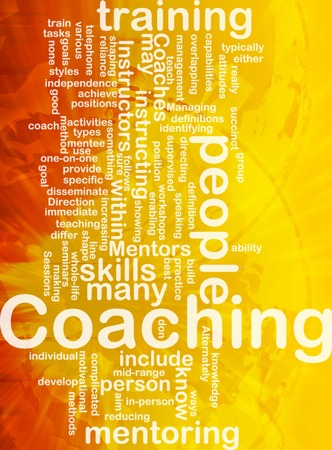 Background concept wordcloud illustration of coaching international illustration