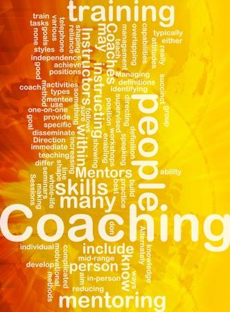 Hintergrund Konzept wordcloud Darstellung Coaching international Lizenzfreie Bilder