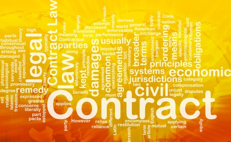 injunction: Background concept wordcloud illustration of contract international
