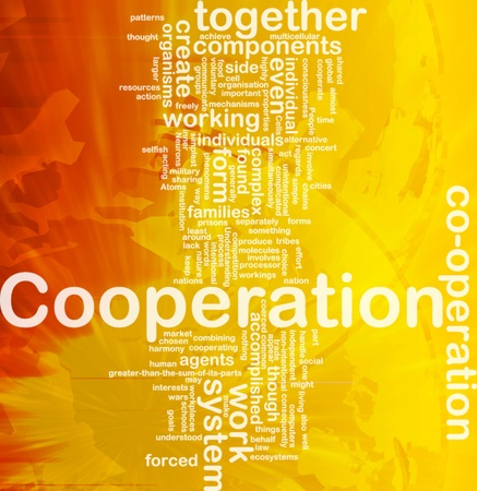 intentional: Background concept wordcloud illustration of cooperation international