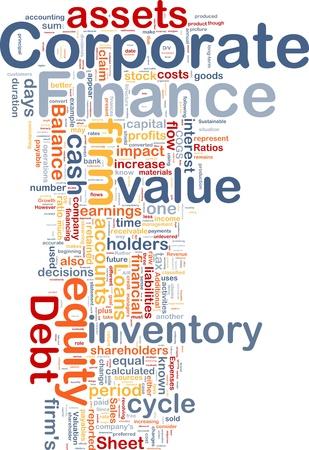 equidad: Ilustraci�n del concepto de fondo de finanzas corporativas de negocios Foto de archivo