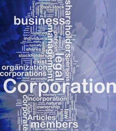 Achtergrond concept wordcloud illustratie van de vennootschapsbelasting internationale