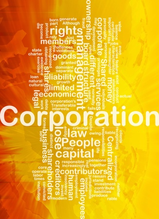 contributors: Background concept wordcloud illustration of corporation international Stock Photo