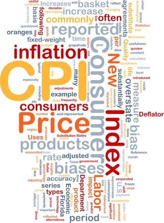economists: Background concept illustration Consumer Price Index