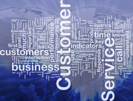 Achtergrond concept wordcloud illustratie van customer service internationale Stockfoto - 10287791