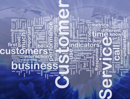 servicio al cliente: Ilustraci�n de wordcloud concepto de fondo de servicio al cliente internacional