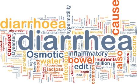 bowel disease: Background concept wordcloud illustration of diarrhea diarrhoea Stock Photo