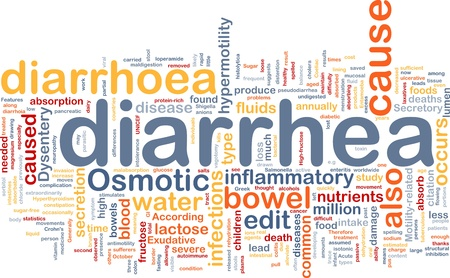 Background concept wordcloud illustration of diarrhea diarrhoea Stock Illustration - 10287739