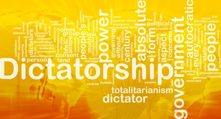 incumbent: Background concept wordcloud illustration of dictatorship international Stock Photo