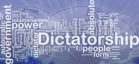 dictatorship: Background concept wordcloud illustration of dictatorship international Stock Photo