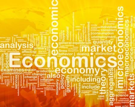 desarrollo econ�mico: Ilustraci�n de wordcloud concepto de fondo de la econom�a internacional