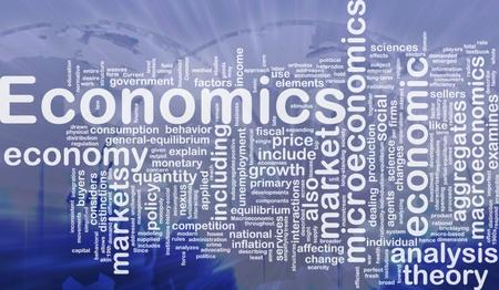 Wordcloud Hintergrund Konzept der internationalen Wirtschaft Lizenzfreie Bilder
