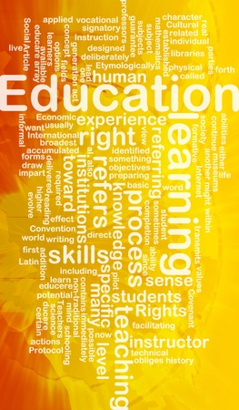 facilitating: Background concept wordcloud illustration of education international