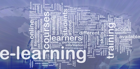 instances: Background concept wordcloud illustration of e-learning international