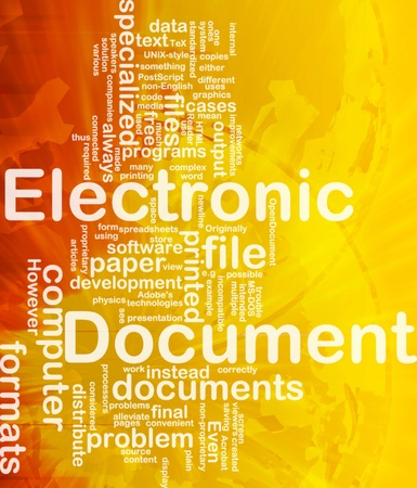 document file: Background concept wordcloud illustration of electronic documents international