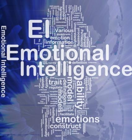 Achtergrond concept wordcloud illustratie van emotionele intelligentie internationale