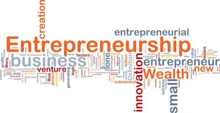 Ilustración de fondo el concepto de emprendedor de negocios empresarial Foto de archivo